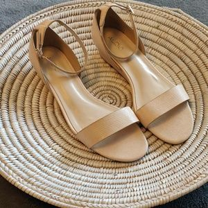 ALDO wedge sandals with ankle strap